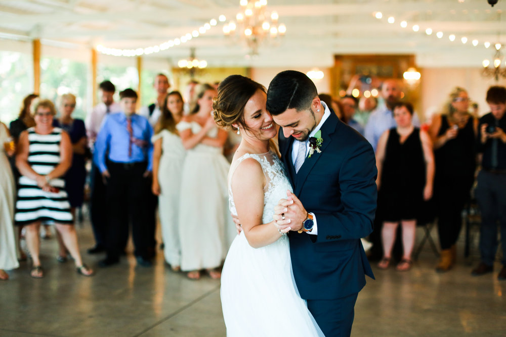 Jenna Kevin Wedding | Sixpence Events day of coordinating | Hannah Schmitt Photography | Legacy Hill Farm | first dance