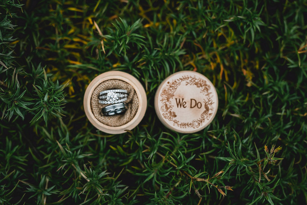 Leslee & Billy | Legacy Hill Farm Wedding | Aqua Fox Photography | A Vintage Touch Wedding Planning | Sixpence Events & Planning day of coordinating | ring box 'we do'