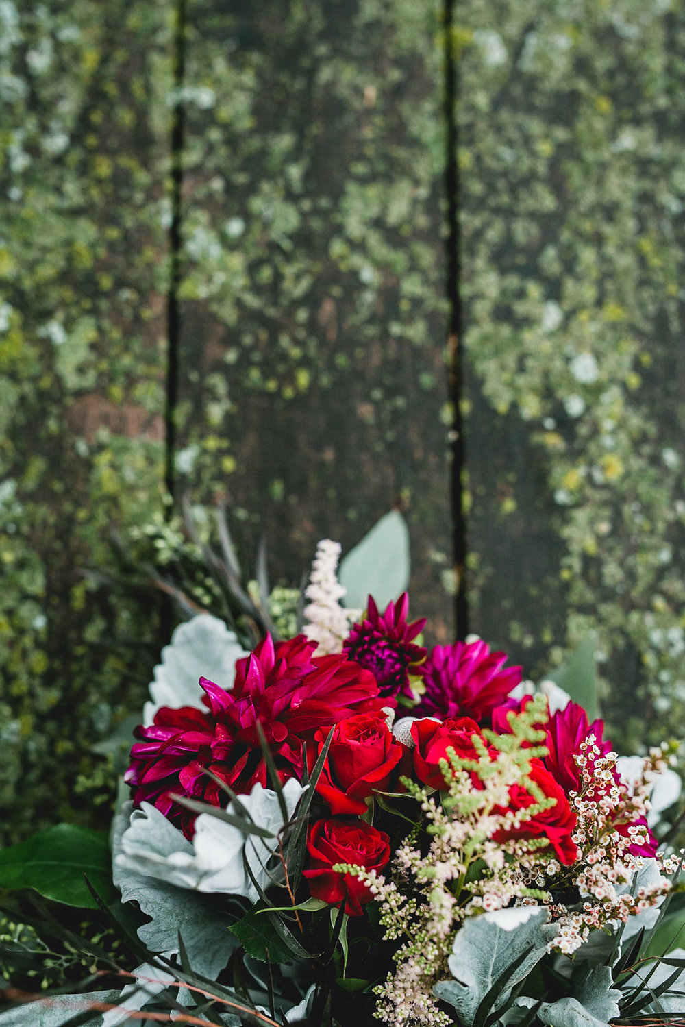 Leslee & Billy | Legacy Hill Farm Wedding | Aqua Fox Photography | A Vintage Touch Wedding Planning | Sixpence Events & Planning day of coordinating | Cutting Garden flowers with dusty miller and astilbe