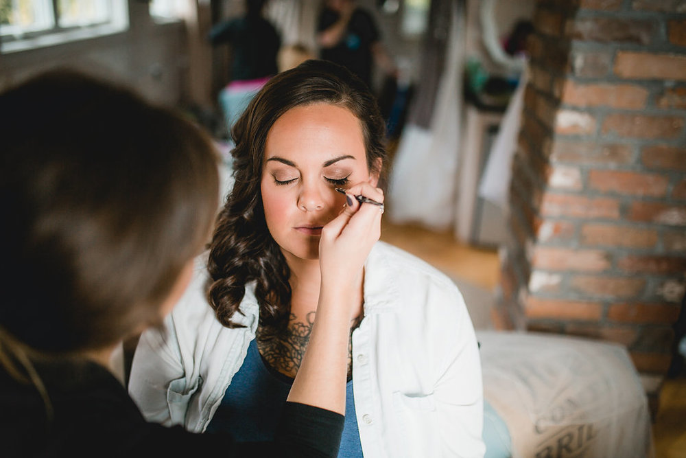 Leslee & Billy | Legacy Hill Farm Wedding | Aqua Fox Photography | A Vintage Touch Wedding Planning | Sixpence Events & Planning day of coordinating | hair and makeup getting ready bride