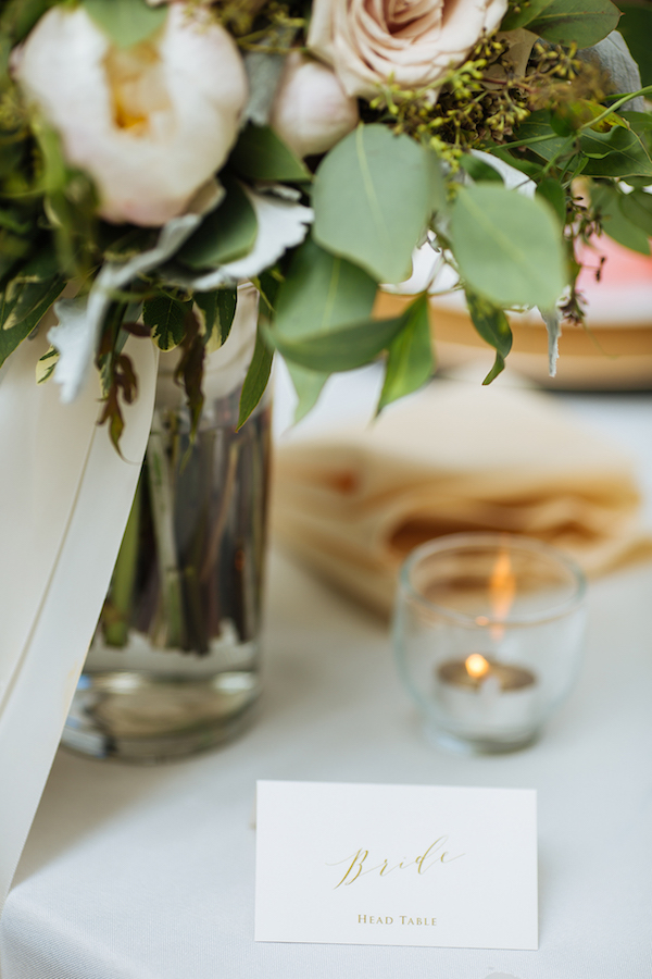 Hailey and Hunter | Alyssa Lee Photography | Sixpence Events & Planning |  table decor simple with bouquets and bubble votives