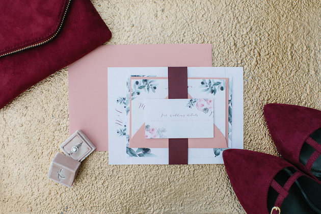 Nicole + Luke | Villa Bellezza | Kristina Lorraine Photo | mrs box | wine flats | invitation suite and wine clutch