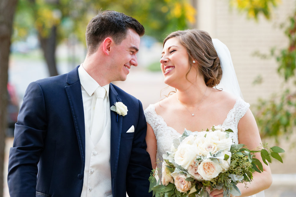 Lauren and Cameron | Historic Concord Exchange | La French Touch Photography | Sixpence Events & Planning day of coordinating | bride and groom just married