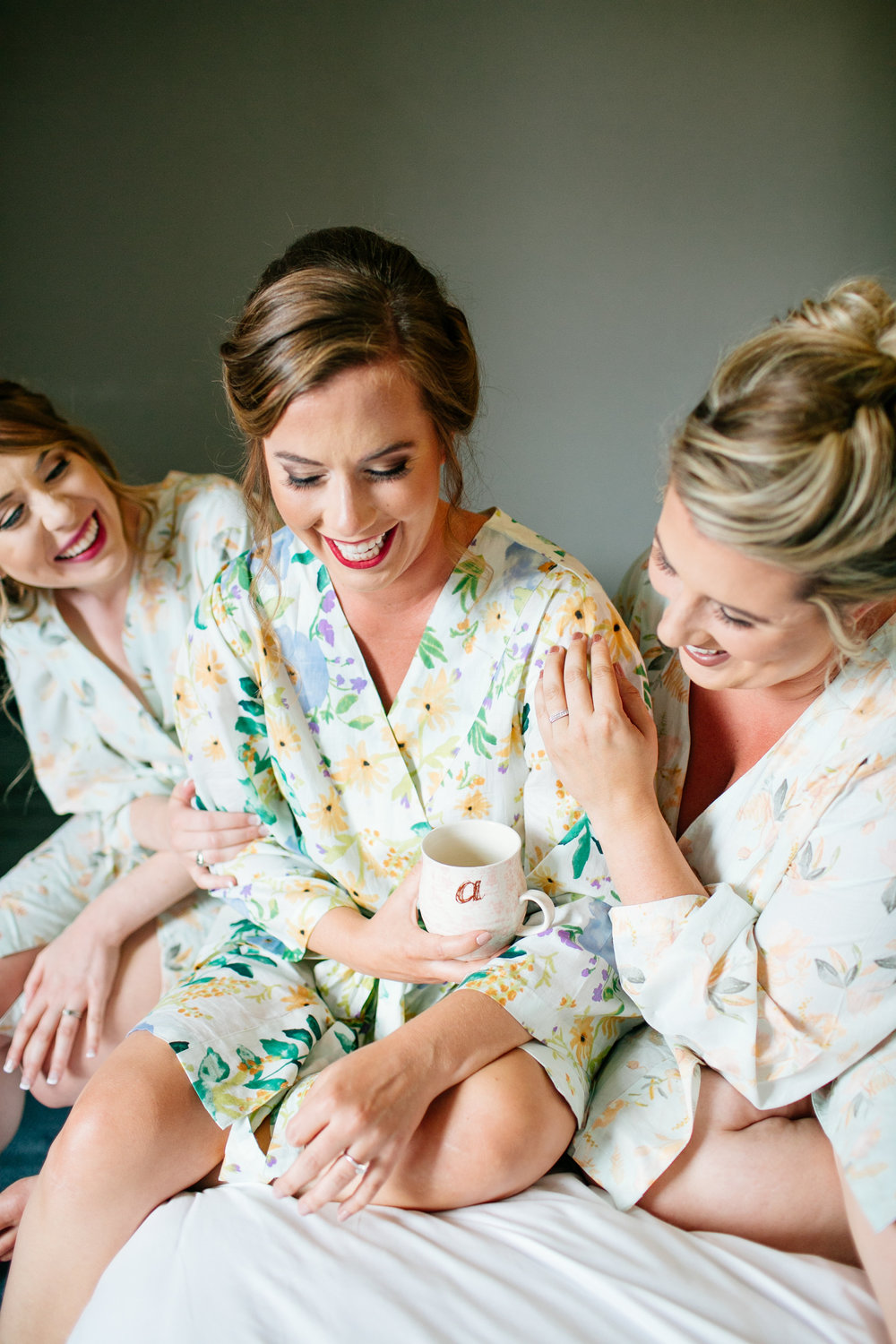 How to Capture Your Getting Ready Photos | Leah Fontaine Photography | Getting ready photos with matching bridesmaids robes