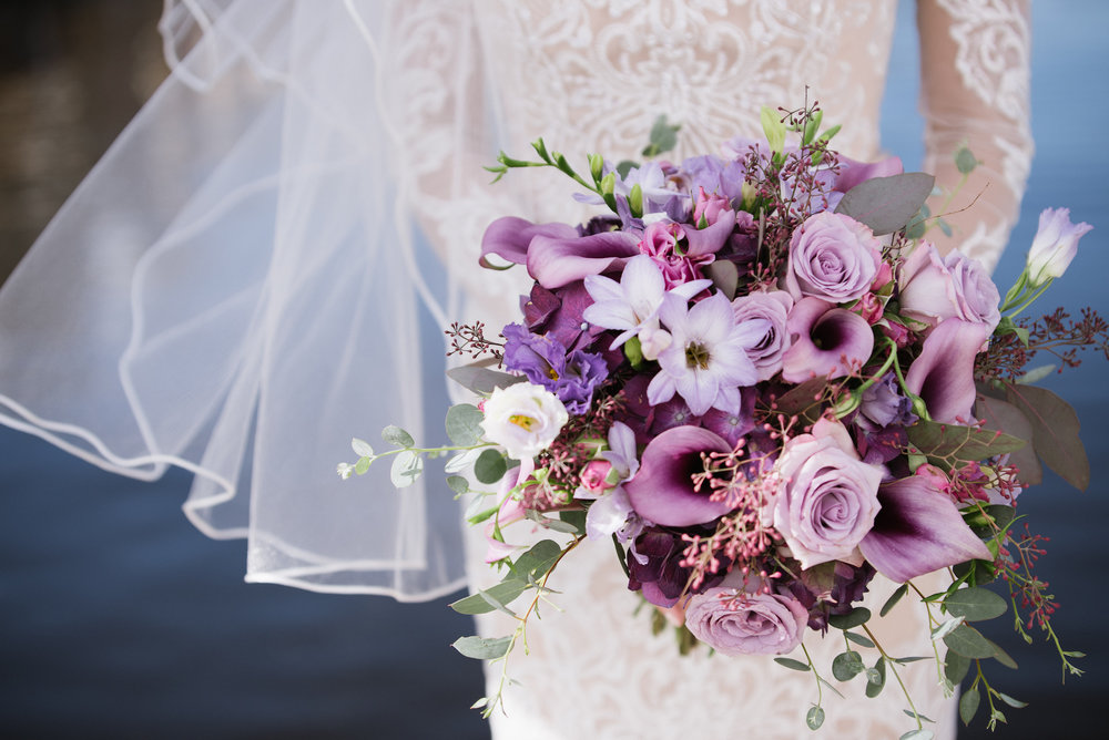 purple wedding bouquet | Dillinger Studios Minneapolis Photographer | Mexican American fusion wedding | Sixpence Events & Planning Minnesota wedding planner .jpg