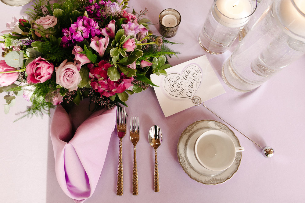 place setting without a place but with a triangle fold napkin | Dillinger Studios Minneapolis Photographer | Mexican American fusion wedding | Sixpence Events & Planning Minnesota wedding planner .jpg