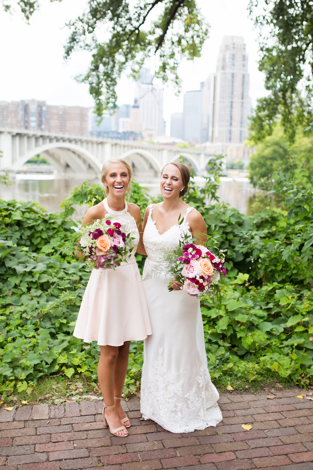 Kaylie + Travis | Sixpence Events wedding planner in the midwest | Studio KH photography | sisters bridal portrait