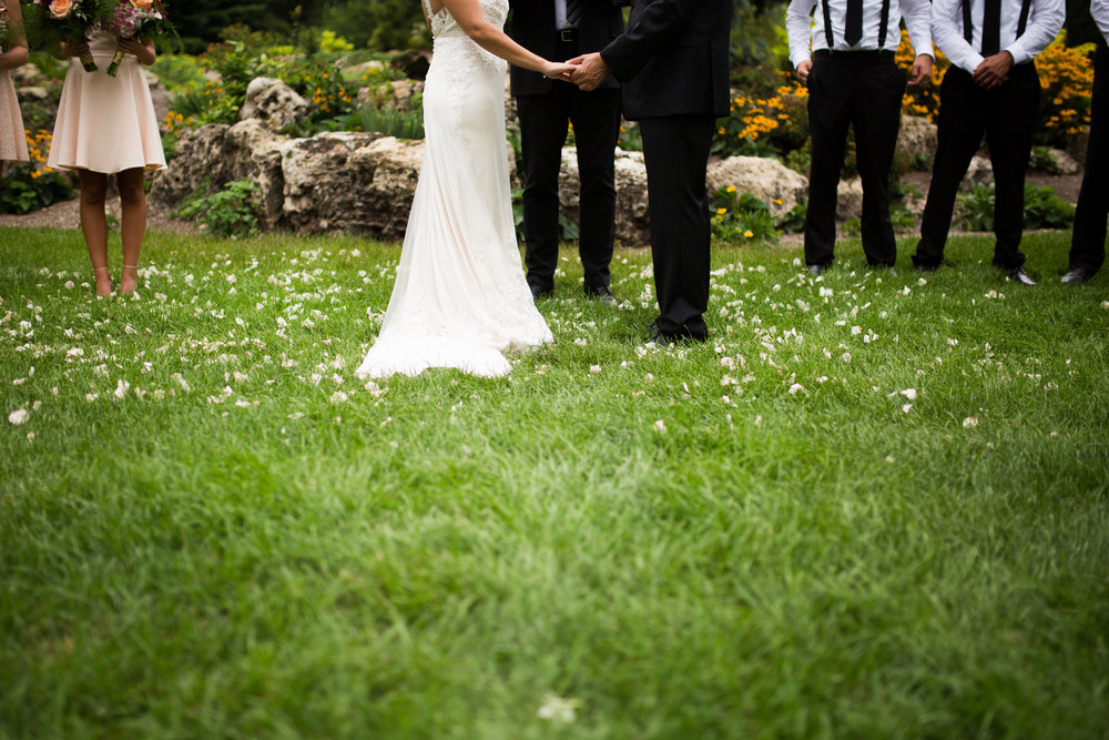 Kaylie + Travis | Sixpence Events wedding planner in the midwest | Studio KH photography | park ceremony | Peace park garden