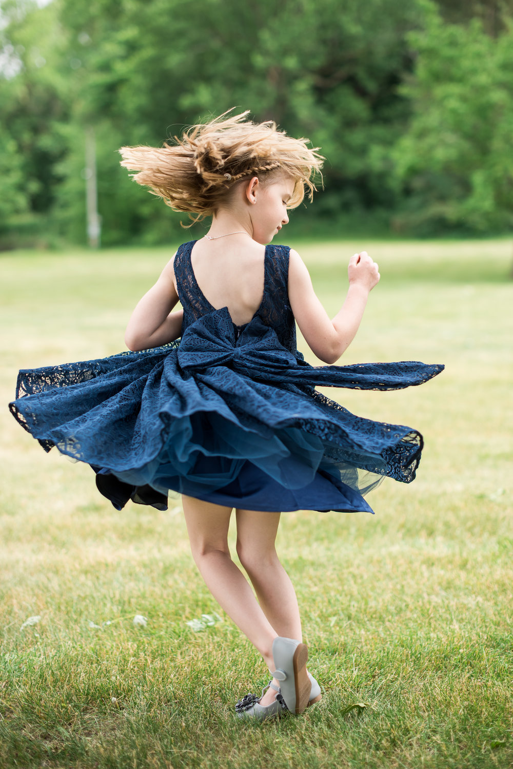 flower girl twirl | Kelly Birch Photography :: Horse and Hunt Club :: Sixpence Events Minnesota wedding planner .jpg