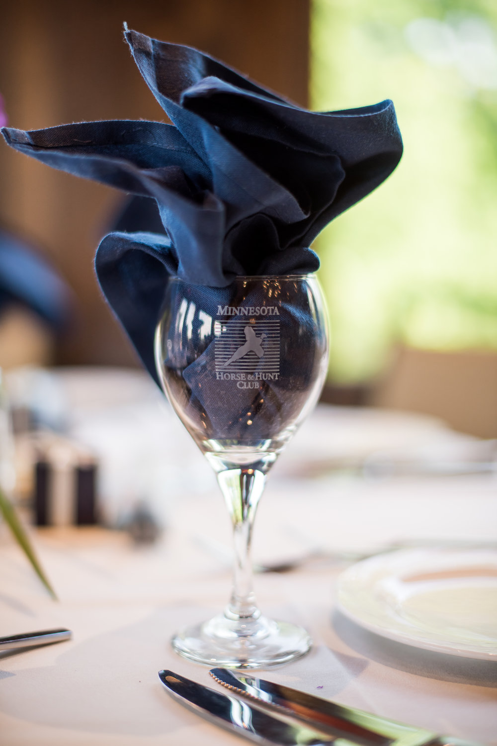 flame fold napkin | Kelly Birch Photography :: Horse and Hunt Club :: Sixpence Events Minnesota wedding planner .jpg