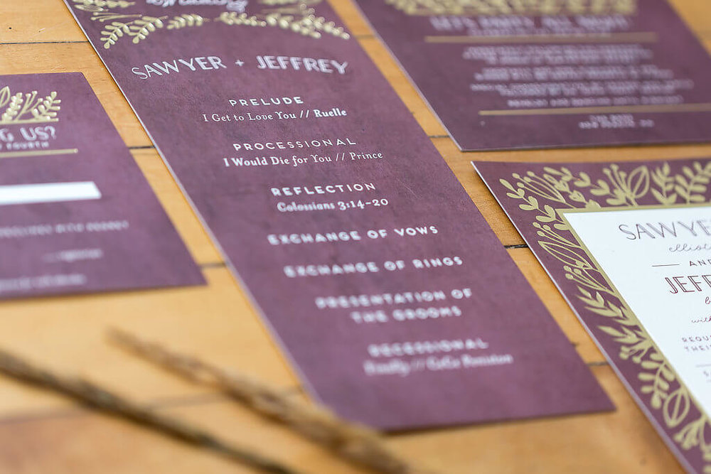 Kelly Reeves Photography | Minted gold foil stationery | when to write thank you cards | Two grooms shoot at The Broz | Sixpence Events wedding planner in Minnesota1.jpg