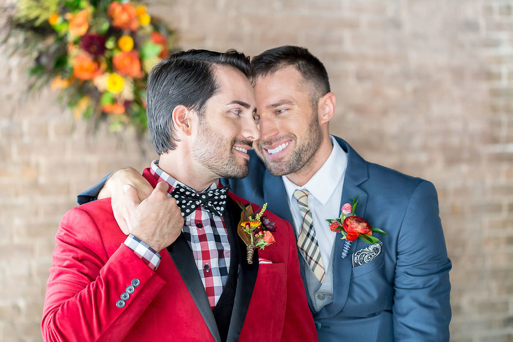Kelly Reeves Photography | Generation tux | red velvet suit | Studio B Floral | Two grooms shoot at The Broz | Sixpence Events wedding planner in Minnesota13.jpg