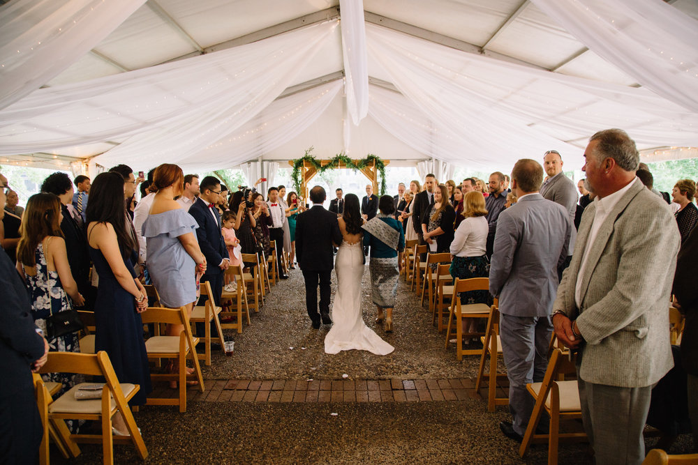 rain back up plan, tent draping, Whims and Joy Minneapolis photographer :: Sixpence Events & Planning Minnesota wedding planner :: Nicollet Island Pavilion.jpg