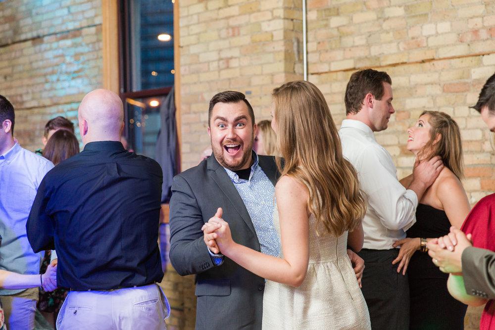 Jill + John :: Kristen Dyer :: Sixpence Events, dancing photo, DJ Jon Berry, Day Block Event Center