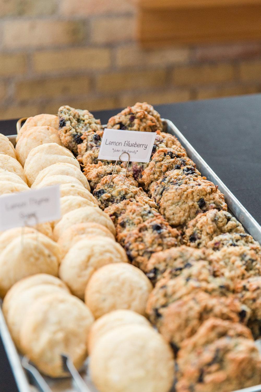 Jill + John :: Kristen Dyer :: Sixpence Events, angel food bakery wedding cookies