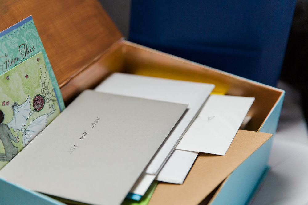 Jill + John :: Kristen Dyer :: Sixpence Events, simple card box