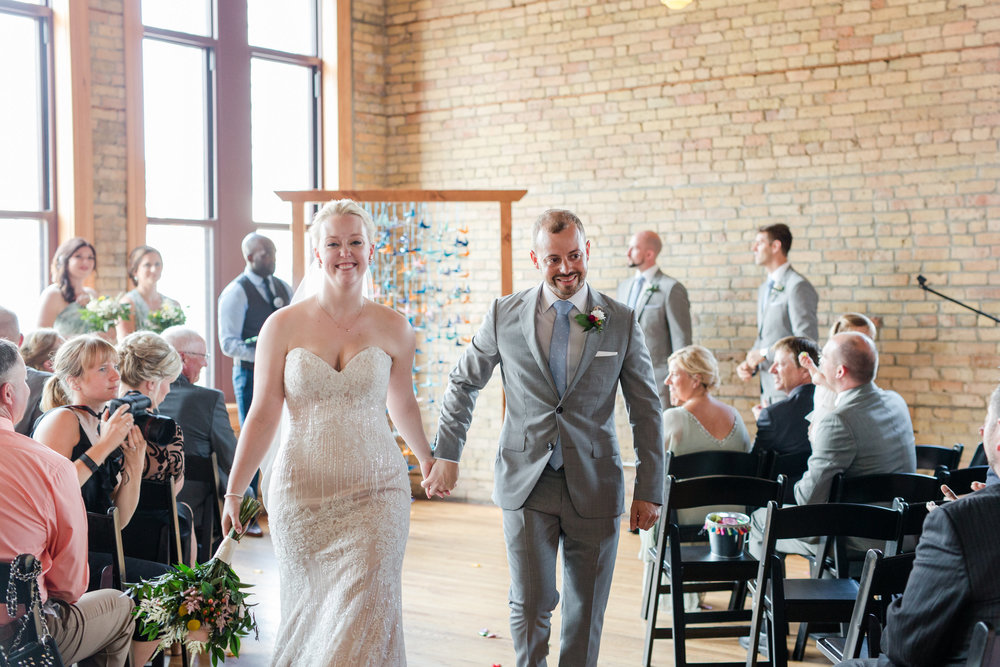 Jill + John :: Kristen Dyer :: Sixpence Events, just married at Day Block