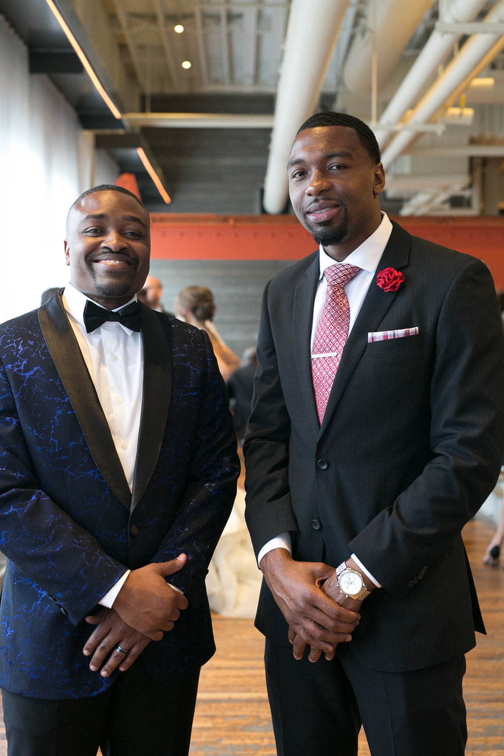 dapper wedding guests in suits | Alice HQ Photography | Machine Shop Minneapolis | Sixpence Events and Planning wedding planner.JPG