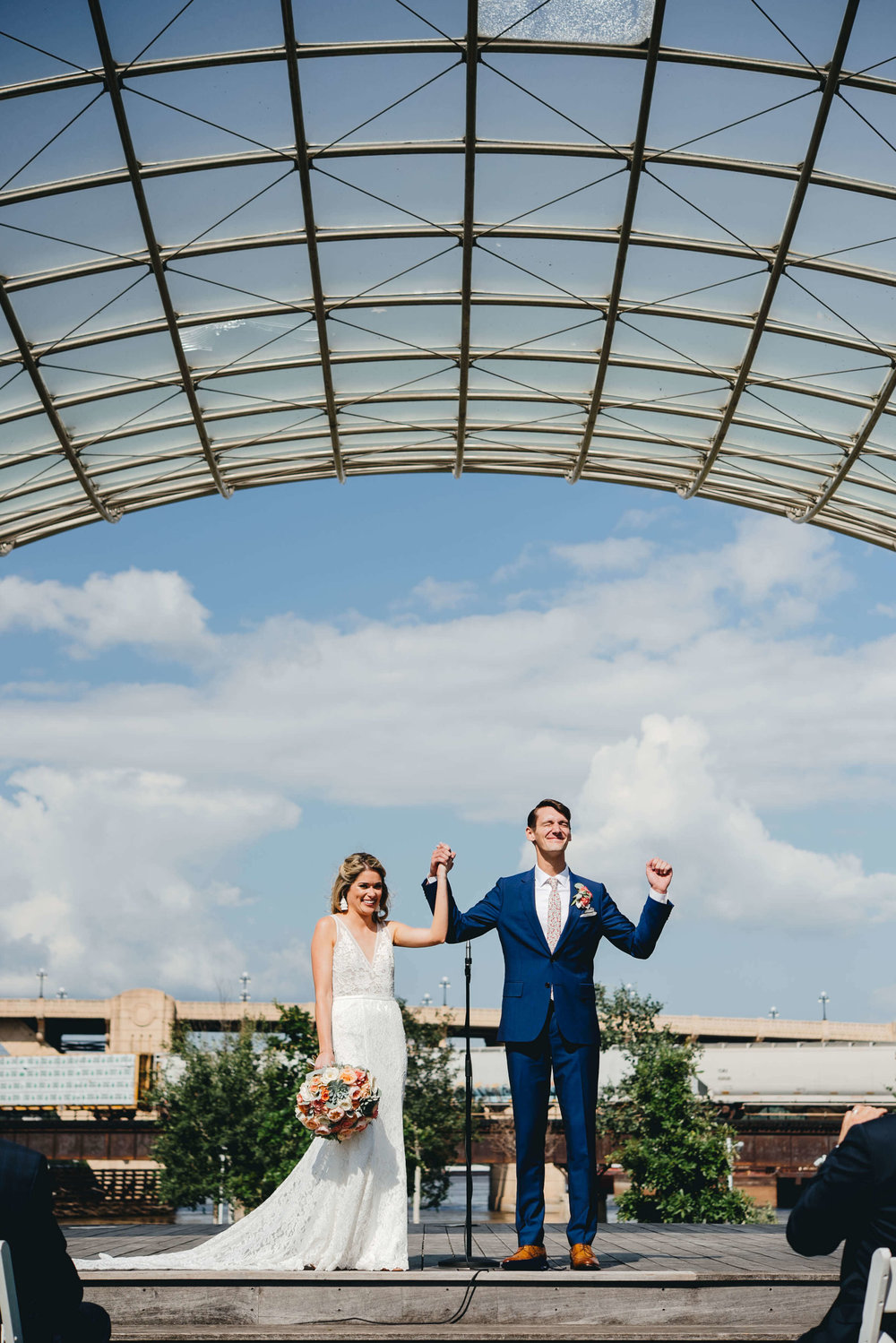 Roy Son Photography | Raspberry Island and Octo Fish bar | Minneapolis wedding planner Sixpence Events | just married!