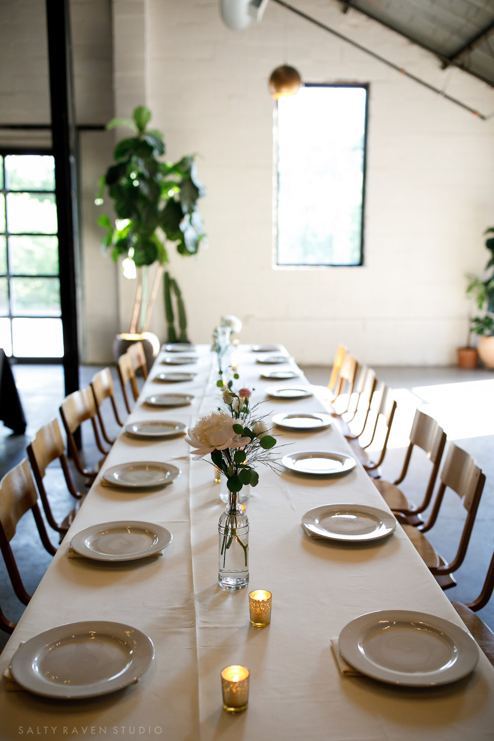 simple table decor with white linen | Salty Raven Photography | PAIKKA | Sixpence Events | Eleanor and Aaron's wedding.jpg