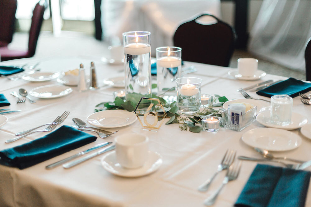 teal napkins and eucalyptus | Lauren Baker Photography | Sixpence Events Blog Post: Must Have Wedding Photography Tips