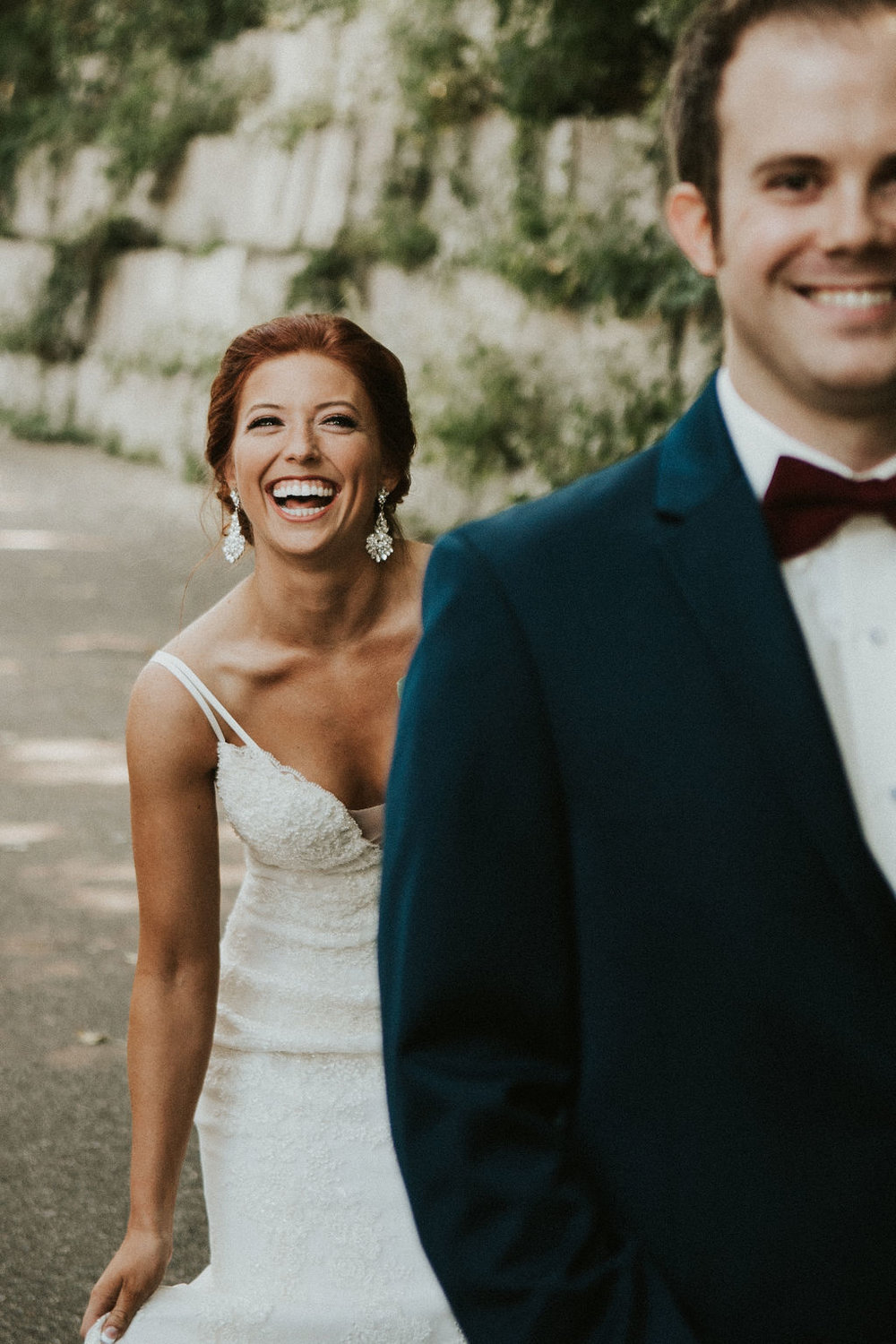 first look on pathway in Minneapolis | Asher Marie Photography | Minneapolis day of coordinator | Muse wedding downtown.jpg