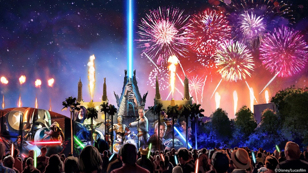Concept art for  Star Wars: A Galactic Spectacular -     Disney Parks Blog