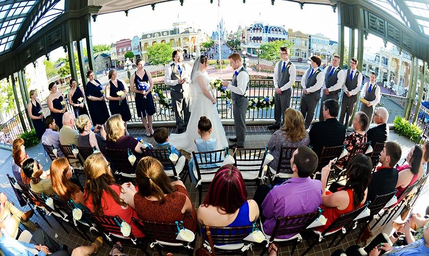 Wedding at Walt Disney World Railroad train station