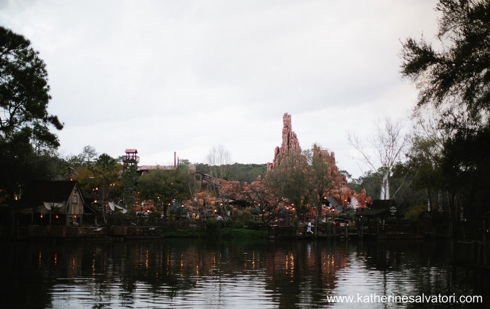 View of Frontierland from Tom Saywer's Island