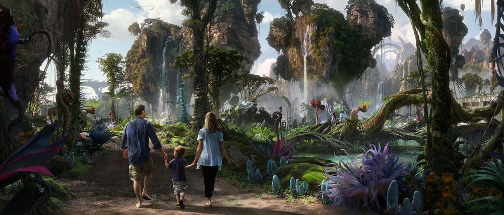 Disney concept art for Pandora