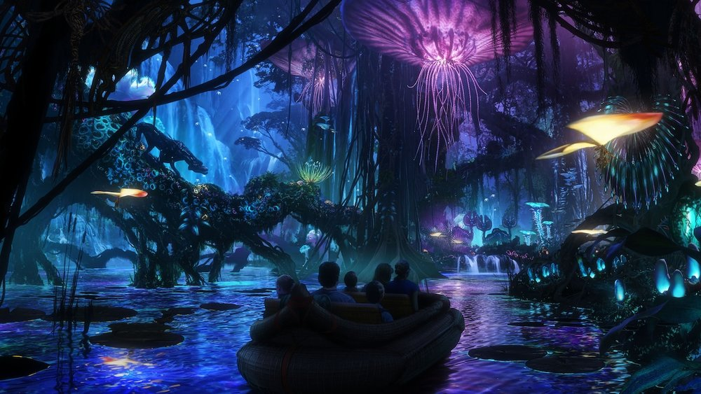 Concept are from Disney of  Na'vi River Journey