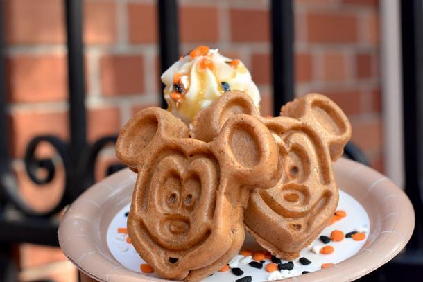 Pumpkin Mickey Waffle Sundae at Sleepy Hollow
