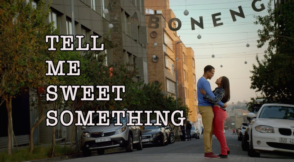 Tell Me Sweet Somethingby Akin Omotoso. 90 mins - An aspiring novelist with writer's block, Moratiwa runs a second hand bookstore in the hippest part of Johannesburg. Meeting the man of her dreams takes our heroine on a journey of comic encounters in this charming, funny and romantic film. Revealing a tangible chemistry between the two lead characters, the film also shows a side of Johannesburg rarely seen. This is Nigerian born Akin Omotoso's third feature film, situating him as a dominant player in the world of new African cinema.