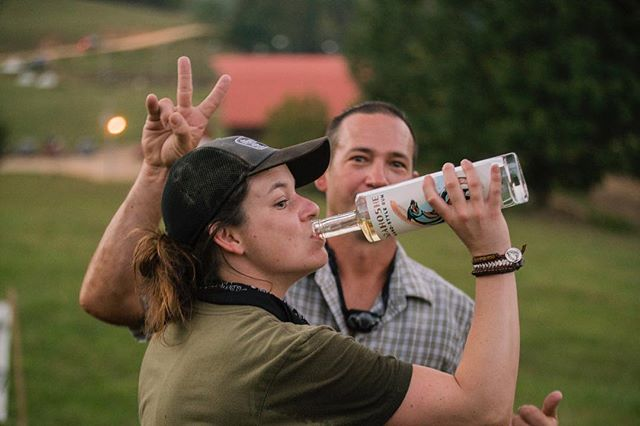 Obligatory swigs of @pwspirits rum before the ride down the slipnslide. #twofourhell #lionsinafieldoflions #24hhh 📷 @craigwynns