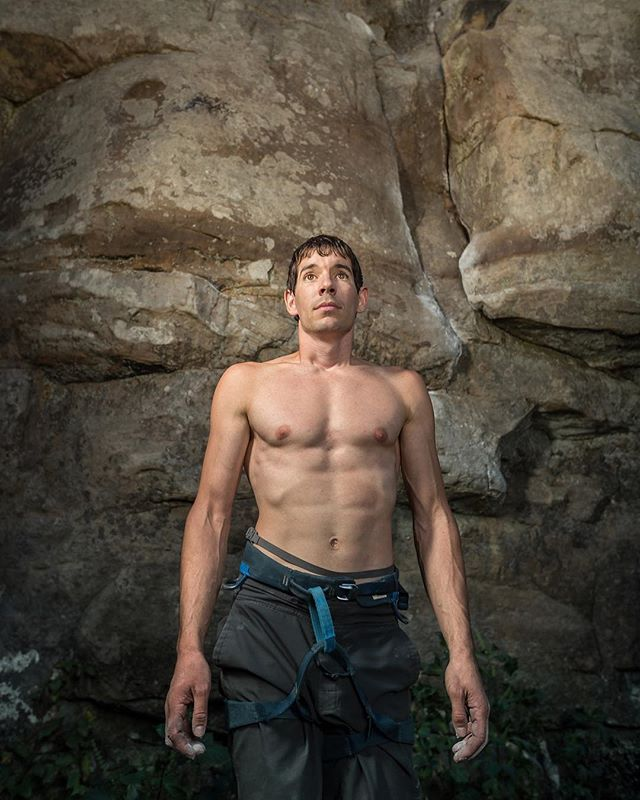 Cause everyone else is doing it - here is a photo of @alexhonnold getting dirty at HELL a few years ago. Congrats to the whole crew on the Oscar.  It's a little too mainstream for our simple palettes, but dang that's a big accomplishment. We love you Alex ❤️. 📷 @jacobslaton #freesolofilm #twofourhell