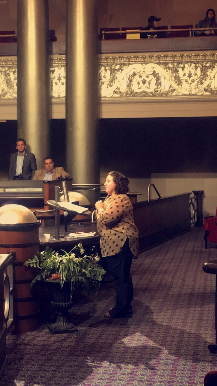 Martina Cucullu Lim from Centro Legal de la Raza Calls on Oakland City Council to fund universal legal eviction for low-income tenants.