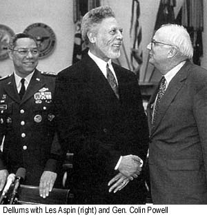 Dellums with Les Aspin (right) and Gen. Colin Powell.