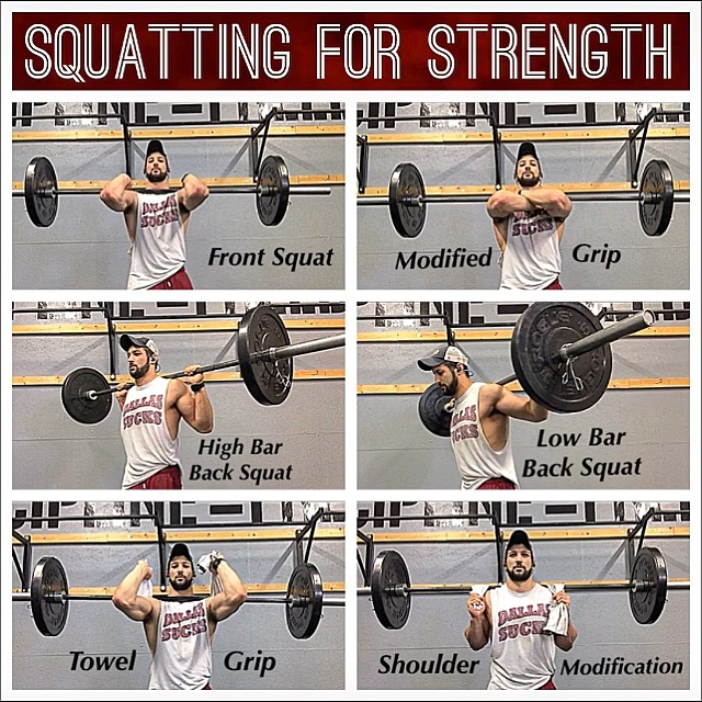 Six Barbell Squat Variations.JPG
