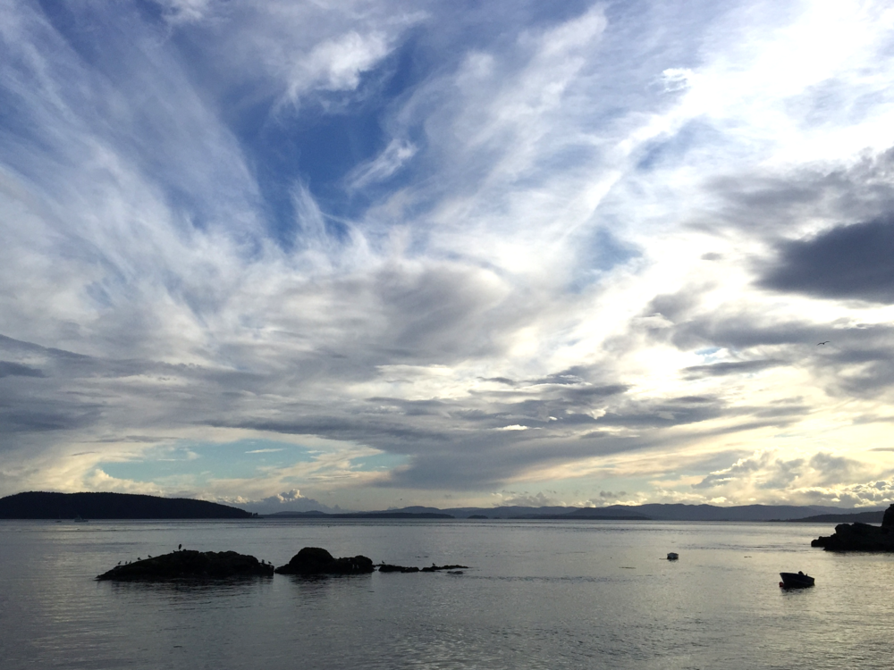 Sky, from Pender Island, B.C.