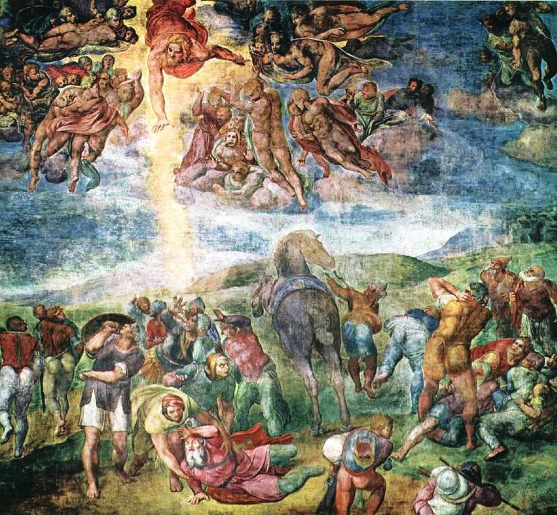 The Conversion of Saul , fresco by Michelangelo, 1542–45 (Wikipedia)