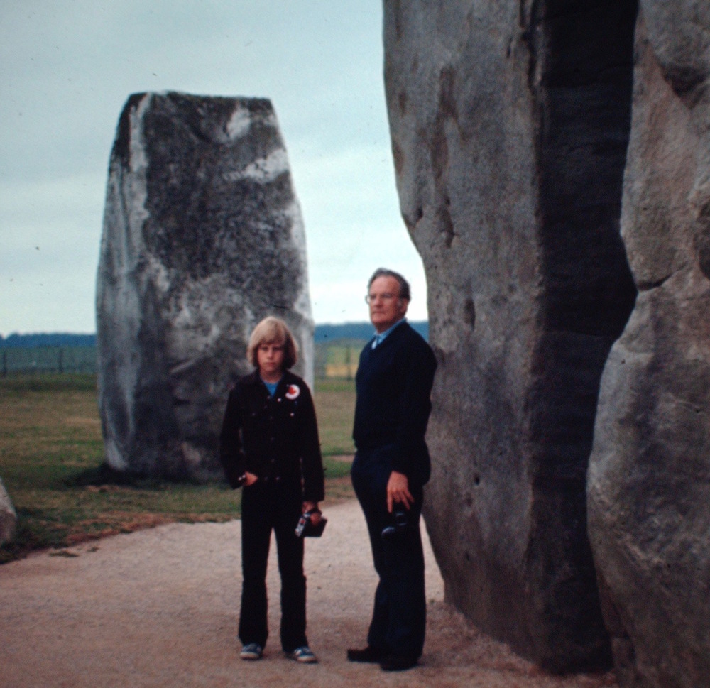 Stonehenge, 1974. My dad, Allan, and I drove from Scotland to Italy.