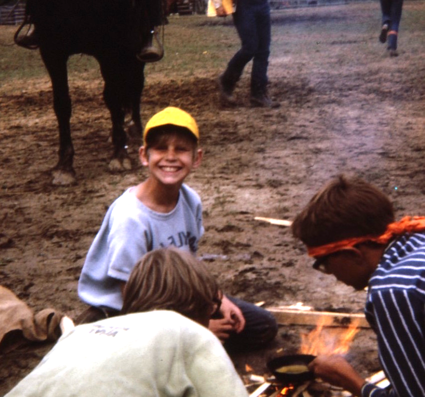 Summer camp, 1971. I look happy at this point, but this didn't last. This so-called 'Christian camp' had counsellors who were interested in more than spirituality. This is one of the few childhood memories I despise.