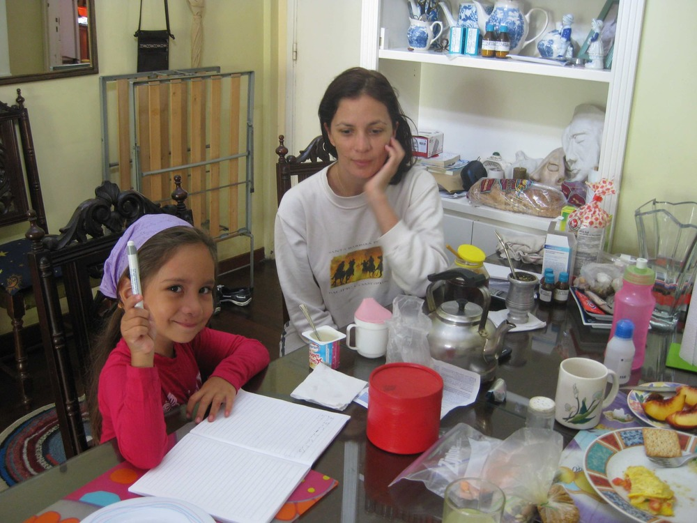 Carmen with her daughter Sophie, 2011 (Caballito, Buenos Aires).