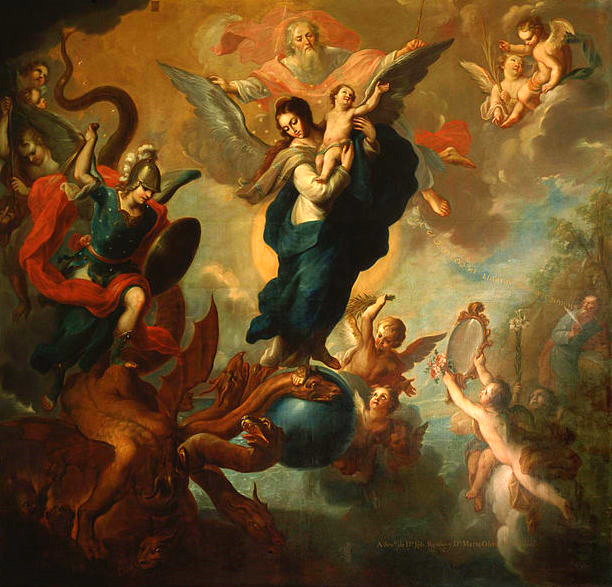 The Virgin of the Apocalypse , 1760, by Miguel Cabrera (from Wikimedia Commons)