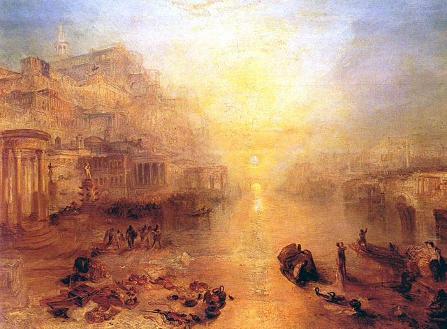 Ovid Banished from Rome , by J.M.W. Turner, 1838