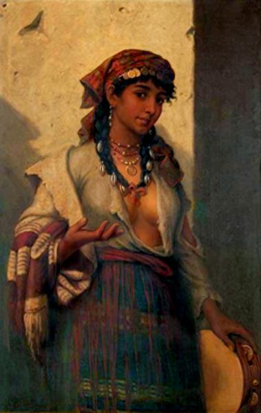 Anton Brentano (1840-88) from http://english.svenko.net/paintings/tambourine.htm
