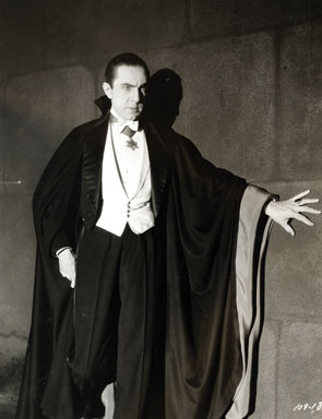 Bela Lugosi as Dracula, anonymous photograph from 1931, Universal Studios (From Wikimedia Commons)