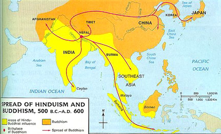 Map from https://apworldhistorywiki.wikispaces.com/Cross+Cultural+Exchanges+and+the+Silk+Road+2