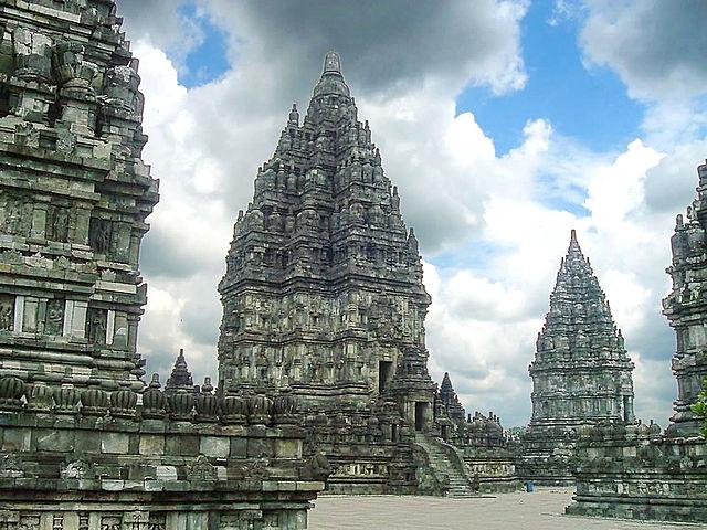 """Shiva temple, the main temple at Prambanan temple complex rising 47m high [...]This ninth century temple complex was build by Hindu Mataram Kingdom""[Java, Indonesia](Gunkara, Wikimedia Commons)"
