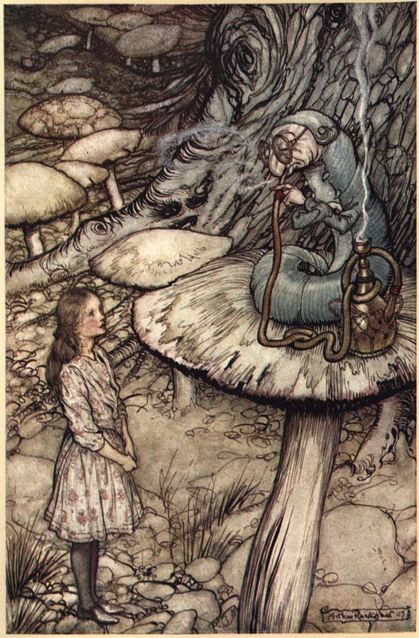 Arthur Rackham's 1907 illustrations of  Alice in Wonderland